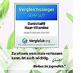 Donivital® Haar-Vitamine - 27 hochdosierte Vitalstoffe - VERGLEICHSSIEGER 9-2021 Biotin, Hyaluron und weitere Mikronährstoffe - 120 vegane Haarkapseln. Für Frauen, Männer und den Bart.