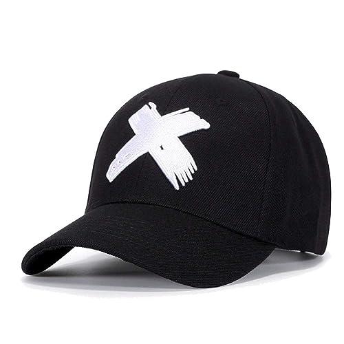 1ff6195f Quanhaigou Unisex Snapback, Adjustable Big X Anime Dad Hat Flat Bill Baseball  Cap