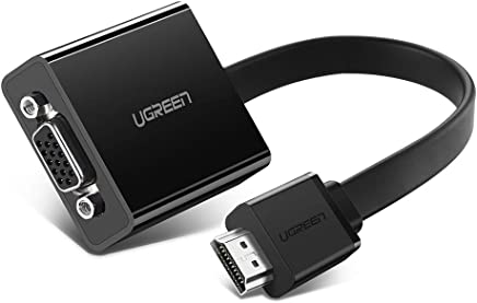 UGREEN Adattatore HDMI VGA Trasmette Contemporaneamente Audio e Video 1080P Full HD, Convertitore HDMI VGA con Micro USB di Alimentazione per PC, TV Stick, TV Box, HDTV, Monitor, Raspberry Pi ecc. (Nero)