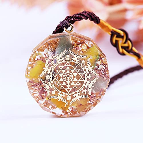NIUBKLAS Collar de Piedras curativas Protección Chakra Cristales Meditación Reiki Suministros Positivo G