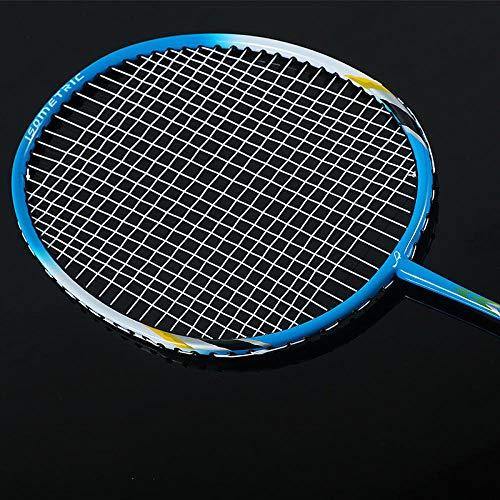 Badmintonracket dubbel geschoten amateur junior student duurzaam type-blauw badmintonracket_660mm