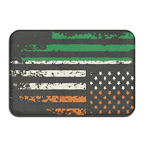 N/A Irish Americans Flag Black Gummimatte Matte rutschfeste Matten Outdoor/Indoor/Badezimmer/Küche/Schlafzimmer Matten