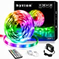 20ft hyrion LED Lights, LED Strip Lights with 44 Key IR Remote Extra Adhesive 3M Tape - Professional Color Changing 5050 LED Rope Lights for Bedroom, TV, Kitchen, Under Bed Lighting