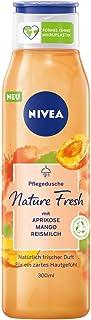 Nivea Nature Fresh Verzorgende Douchegel Abrikoos (300 ml), Zacht Reinigende Douchegel Met Een Formule Zonder Microplasti...