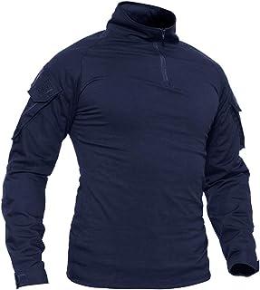 TACVASEN Men's Military Rapid Assault Sleeve Slim Fit Long Sleeve Combat T-Shirt