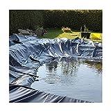 WXJ Hdpe Flexible Pond Liner Teichunterlage 17,9 Mil Dicke TeichhäUte Gummiteichfolie füR Fischteiche Wasserspiele Springbrunnen Wasserfall