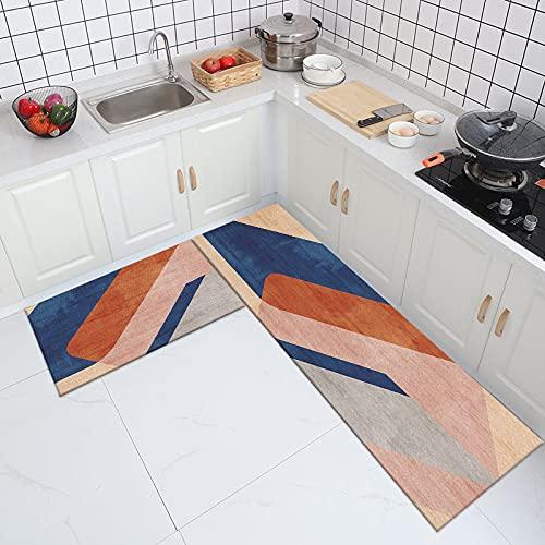 WESG Alfombra Antideslizante de Cocina de Estilo nórdico, Alfombra de Puerta de Cocina de Dormitorio de Sala de Estar del hogar, Alfombra Absorbente de baño n. ° 4 40X60cm y 40X120cm