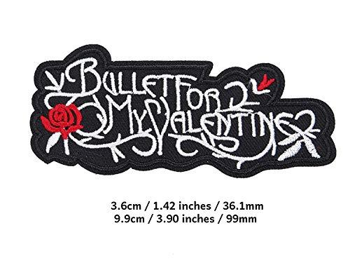 CRW Punk Rock and Roll Heavy Metal Band Bullet for My Valentine Patch – bestickter Aufnäher zum Aufbügeln – Serie zum Aufnähen, geeignet für Jacken, Rucksäcke und Jeans, Hut