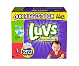 luvs diapers, size 1, 252 count