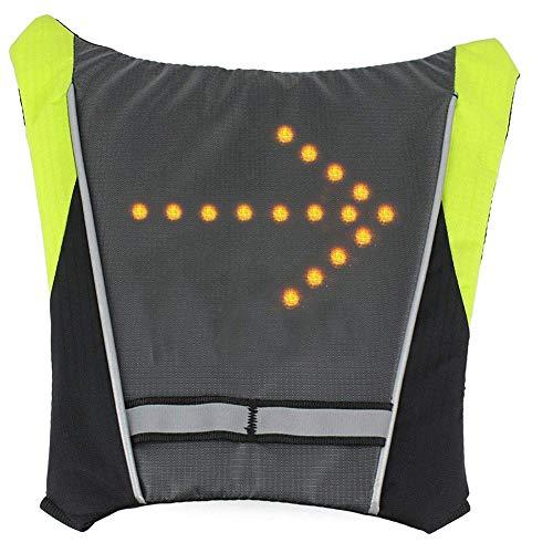 WJJ Fernbedienung Fahrrad LED Blinker Warnwesten, Rucksack Anhänger - Leicht und tragbar Wasserdicht 4 Anzeigemodi - für Nachtreiten Camping