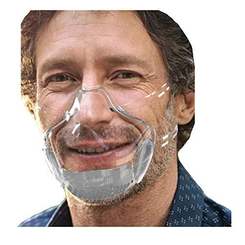 STYLEEA Mundschutz Plexiglas Transparent Winddicht Staubdicht Gemütlich Mundbedeckung, Erwachsene, Bandana Face-Mouth Cover (Grau)