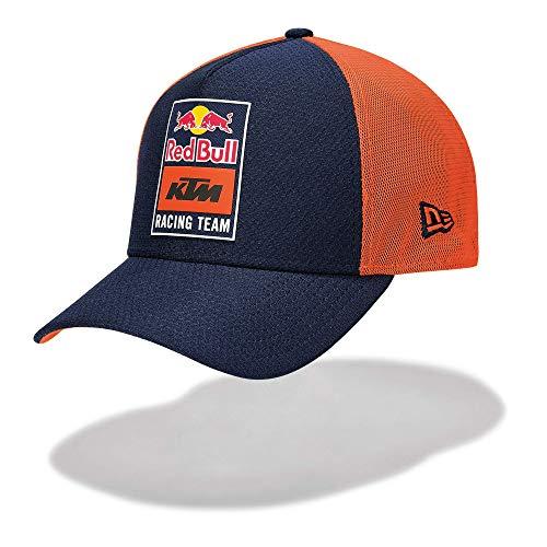 Red Bull KTM New Era Patch Trucker Cap, Bleu Unisexe Taille Unique Badge, KTM Factory Racing Vêtements & Merchandise Originale