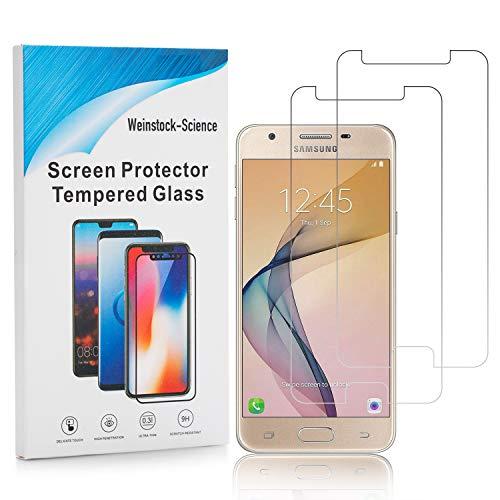 Weinstock-Science | 2X bruchsicheres Schutzglas für Samsung Galaxy J5 2017 | Schutzfolie aus 9H Echt Glas