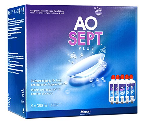 Aosept Plus Kontaklinsen-Pflegemittel, Sparpack, 5 x 360 ml - 2