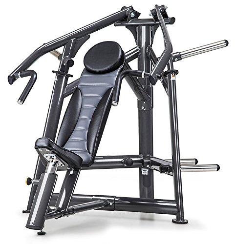 IRON COMPANY SportsArt Fitness A977 Plate Loaded Incline Chest Press for Club Use - Commercial Upper Chest Machine with Independent Converging Press Arms