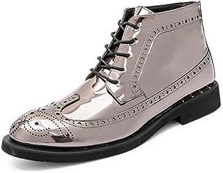 Amazon.co.uk: Silver Boots Men's Shoes: Shoes & Bags