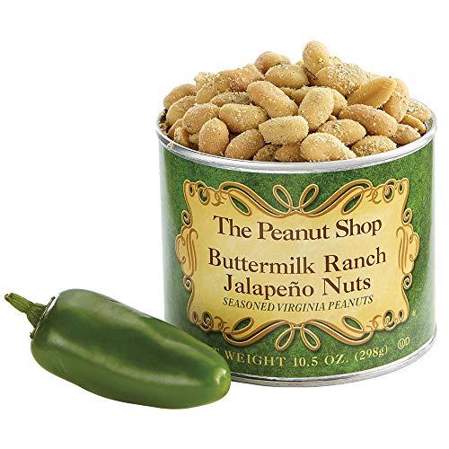 The Peanut Shop of Williamsburg Seasoned Virginia Peanuts, Buttermilk Ranch Jalapeno, 10.5 Ounce