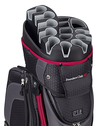 Founders Club Premium Cart Bag with 14 Way Organizer Divider Top (Charcoal)