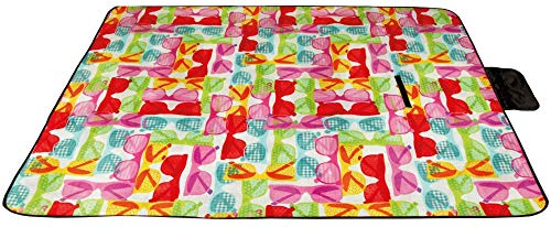 Picknickdecke wasserabw. mit Fotodruck, Auswahl: Größe - 200x300 cm Design - Sunglasses, Stranddecke Kofferraumunterlage Campingdecke