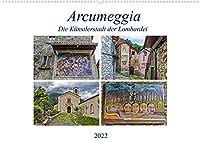 Arcumeggia - Die Kuenstlerstadt der Lombardei (Wandkalender 2022 DIN A2 quer): Arcumeggia - Freskenmalerei unter freiem Himmel (Monatskalender, 14 Seiten )