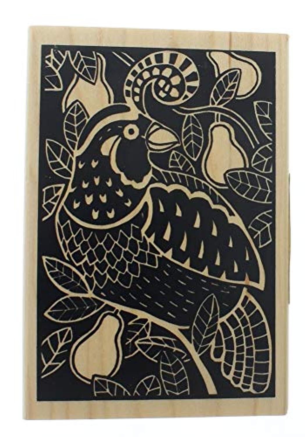 Inkadinkado Partridge Woodcut Wood Stamp
