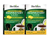 Herbion Naturals Respiratory Care Granules with Natural Lemon Flavor, 10 Count Sachet - Help Relieve Cold and Flu Symptoms, Promote Healthy Respiratory Function, Optimize Immune System (Pack of 2)
