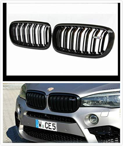 Boobo Pair 2007-2013 X5 X6 E70 E71 Front Kidney Grille Gloss Black M- Tri Color For BMW X5 X6 Grille