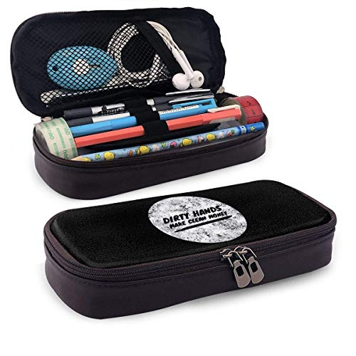 XCNGG Estuche para lápices neceser Dirty Hands Make Clean Money Large Capacity Stationery Bag Basic Pencil Cases