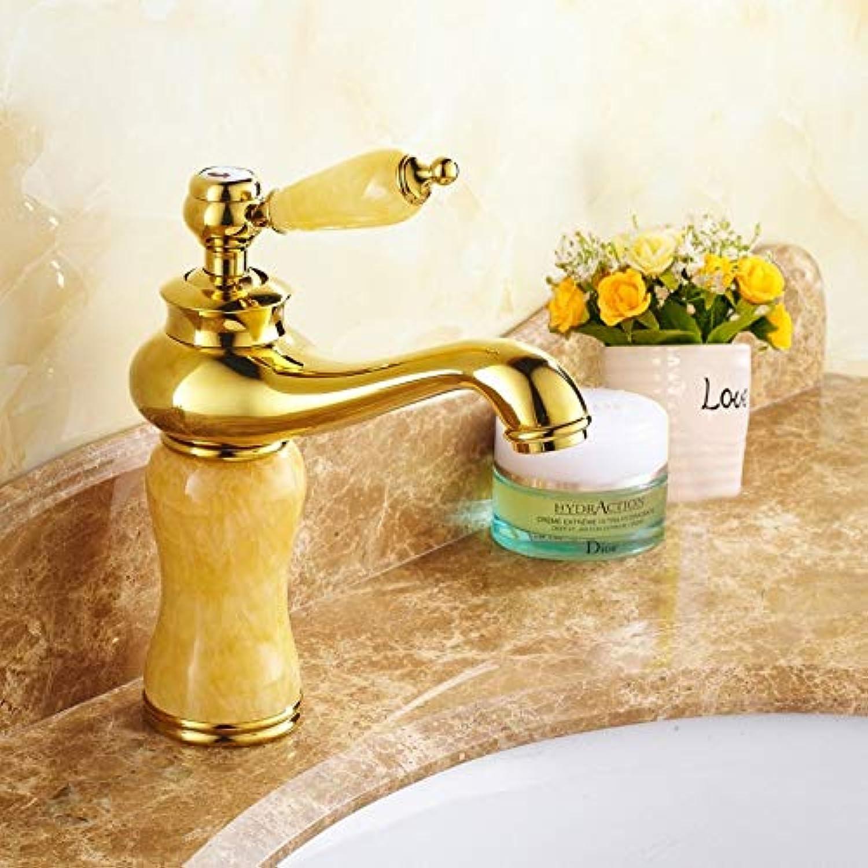 LHbox Antike Becken natürliche Volle Kupfer Gold Wasserhahn Warmes und Kaltes kontinentales Schminkbereich mit Waschbecken, B