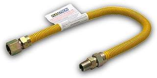 Flextron FTGC-YC14-48J 122 cm elastyczne złącze przewodu gazowego pokryte epoksydową o średnicy zewnętrznej 3/8 cala i złą...