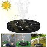 VEGKEY Solar Springbrunnen, Solar Teichpumpe Solar Wasserpumpe mit 6 Fontänenstile Outdoor Solar Teichpumpe für Gartenteich, Vogel-Bad, Fisch-Behälter,Gartendekoration