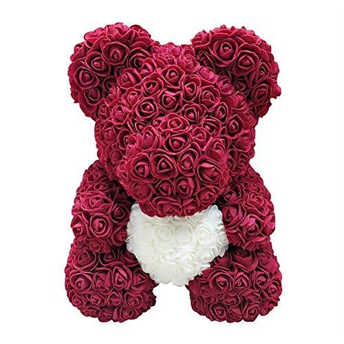 PE Schaum Simulierte Rose Bär Puppe Künstlicher Rose-Teddybär des Valentinstags,Puppendekoration,Geschenk Zum Valentinstag, Plüsch Teddy PE Schaum Simulierte Rose Bär Puppe Dekoration