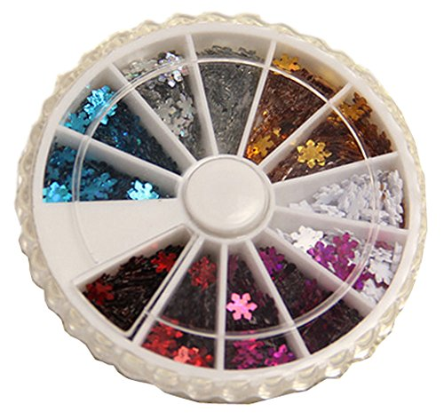 600 PCS Attactive Snowflake Pattern For Nail Art Decoration, Multicolor