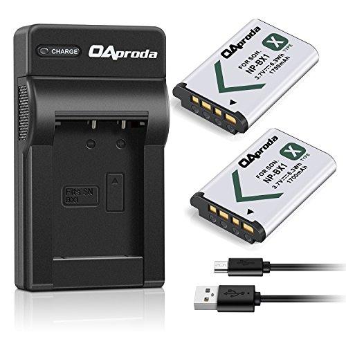 OAproda 2 Pack NP-BX1 Battery(1700mAH) and Ultrathin USB Charger for Sony NP-BX1/M8, Cyber-Shot DSC-HX80, HX400, RX100, RX100 RII, RX100 VII, RX1, RX1R, RX100M II, RX100 V, RX100 IV, HX300, HX50V