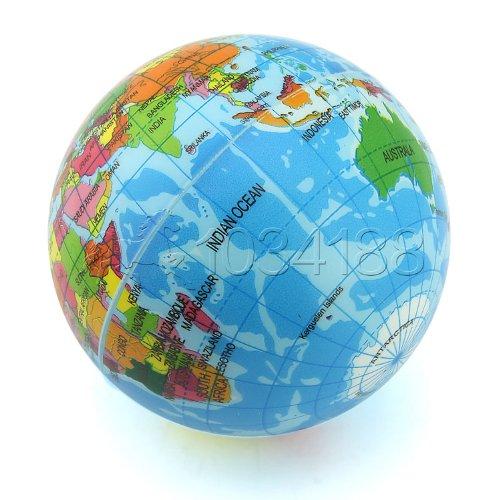 Ballen_Ma Globus-Schaumstoffball/Erdkugel-Schaumstoffball, weich, ideal für drinnen und draußen