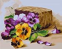 番号によるDiyデジタル絵画ペイントアクリルペイント手作りペイント番号による花の色家の装飾