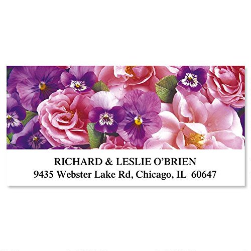 Beautiful Blossoms Self-Adhesive, Flat-Sheet Deluxe Address Labels (12 Designs)