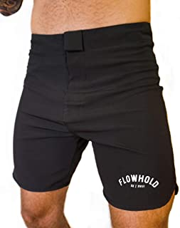 Flowhold MMA Shorts for No Gi BJJ, Grappling, Kickboxing, Crossfit, Jiu Jitsu for Men