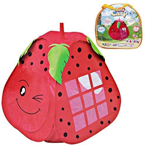 Gabz Strawberry-Shaped Indoor & Outdoor Children Playhouse | Pop-Up Play Area Tent