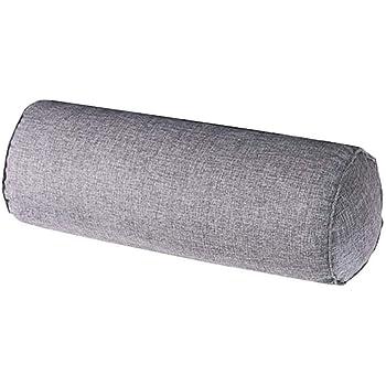 Oreiller Cylindrique en Coton Naturel de Haute Qualit/é Doux et Confortable Kaki 15 x 60 cm Polochon HomeMiYN Traversin