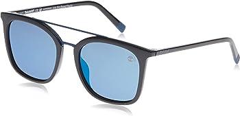 Timberland Polarized Shiny Black Brow Bar Square Men's Sunglasses