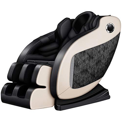 ERP Massage Elektischer Massagesessel Für Ihr Wohlbefinden, Relaxsessel Mit Wärmefunktion, Shiatsu, 4 Massagetechniken, Transportrollen, Kopf Nackenkissen Und Bluetooth, 2 Jahre Garantie