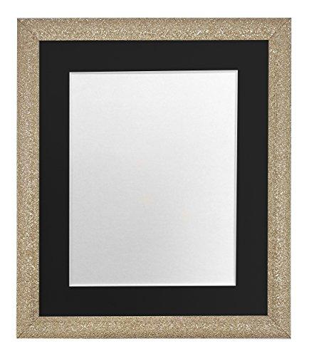 FRAMES DOOR POST Glitz Gouden fotolijst met zwarte bevestiging 50 x 70 cm Beeldformaat 24 x 16 inch Kunststof Glas