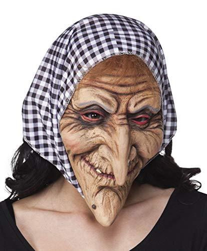 Boland - Máscara Vecchia Befana de látex con capucha para adultos, rosa, talla única, 97508