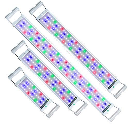 UISEBRT LED Aquarium RGB Beleuchtung 6W - Aquarium Pflanzen Lampe mit Verstellbarer Halterung für 30cm-50cm Aquarium (6W,30cm-50cm)