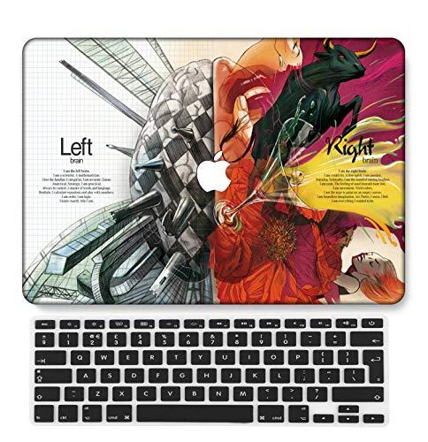 GangdaoCase Plástico Ultra Delgado Ligero Estuche RígidoDiseño Cortado Compatible Nuevo MacBook Pro 13 Pulgadas Retina Pantalla con UK Cubierta Teclado A2289/A2251 (Creativo A 3)