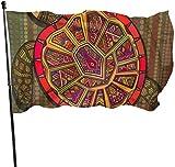 Dekorative Deko-Fahne mit Schildkröte mit Schild, bunt, dekorative Garten-Flagge, für Zuhause, Garten, Hof, Dekoration, 91 x 152 cm