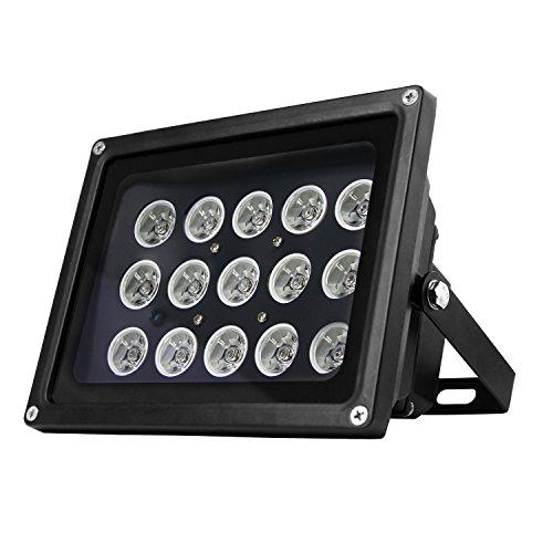 Hochleistungs Infrarot Scheinwerfer IN-907 schwarz mit 850nm IR LEDs für eine perfekte Nachtsicht