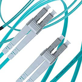 Multi Mode Fibre Patch Cord - Duplex - UPC/UPC - 50/125um OM3 10G Multi-Packs / - Beyondtech PureOptics Cable Series 4 Beyondtech high-quality laser-optimized 50/125 Multimode LC to SC OM3 Fiber Patch Cable is specially designed for fast Ethernet, Fiber Channel, Gigabit Ethernet Speeds, data center, premises, educational, LAN, SAN, commercial and Asynchronous Transfer Mode (ATM) applications. It supports video, data and voice services. LC-SC 3 Meters OM3 Fiber Patch Cable LOMMF connects to 10GBase-SR, 10GBase-LRM, SFP+ and QSFP+ transceivers for 10Gb networks. This OM3 Multimode Fiber Optics Patch Cable conforms to ITU-T G.651.1, TIA/EIA 492AAAC and IEC60793-2-10 A1a.2a standards and complies with all RoHS environmental specifications.