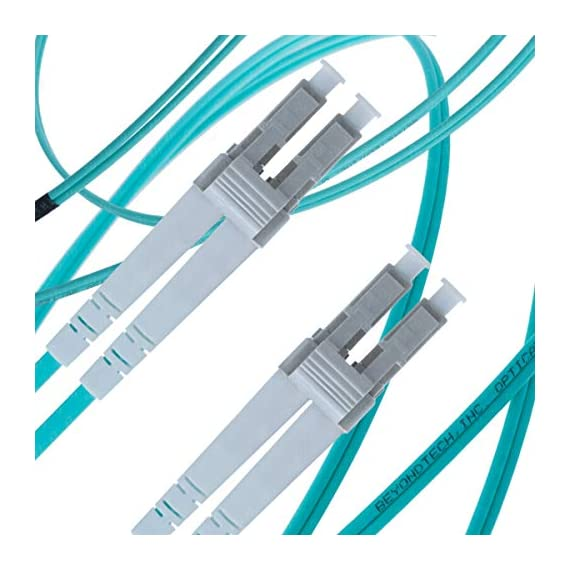 Multi Mode Fibre Patch Cord - Duplex - UPC/UPC - 50/125um OM3 10G Multi-Packs / - Beyondtech PureOptics Cable Series 1 Beyondtech high-quality laser-optimized 50/125 Multimode LC to SC OM3 Fiber Patch Cable is specially designed for fast Ethernet, Fiber Channel, Gigabit Ethernet Speeds, data center, premises, educational, LAN, SAN, commercial and Asynchronous Transfer Mode (ATM) applications. It supports video, data and voice services. LC-SC 3 Meters OM3 Fiber Patch Cable LOMMF connects to 10GBase-SR, 10GBase-LRM, SFP+ and QSFP+ transceivers for 10Gb networks. This OM3 Multimode Fiber Optics Patch Cable conforms to ITU-T G.651.1, TIA/EIA 492AAAC and IEC60793-2-10 A1a.2a standards and complies with all RoHS environmental specifications.